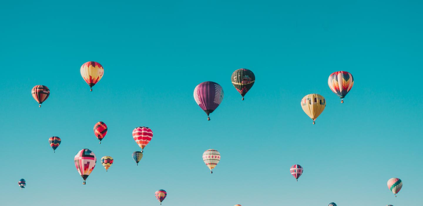 Hot air balloon festival in Santa Fe, New Mexico