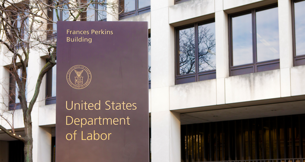 US Department of Labor headquarters sign