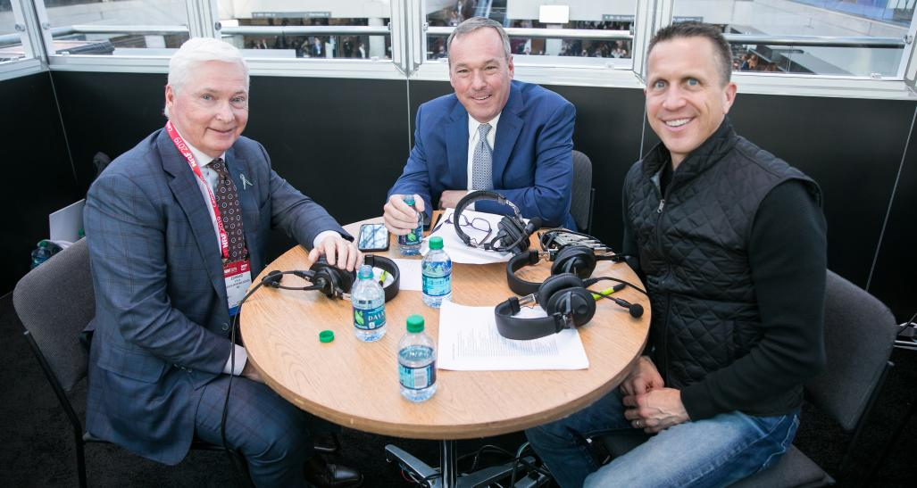 Dick's Sporting CEO Ed Stack recording NRF Podcast