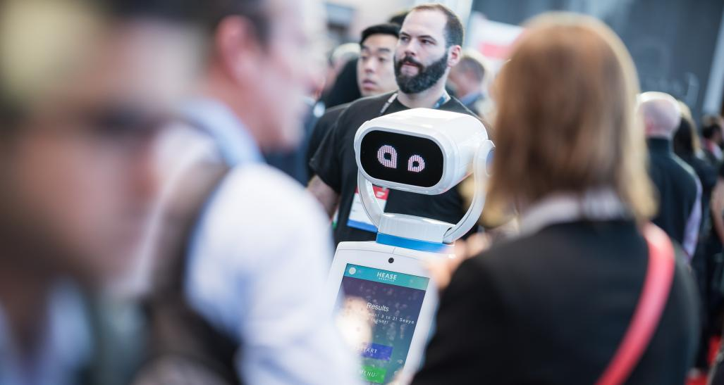 NRF 2019 Expo Hall robot