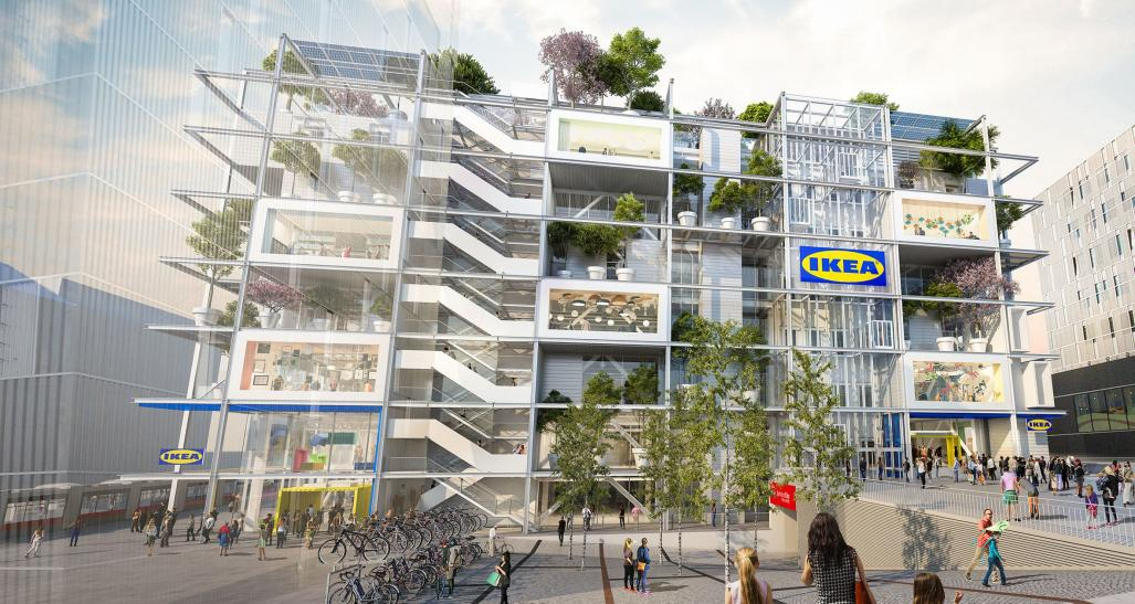 Rendering of new IKEA location in Vienna, Austria