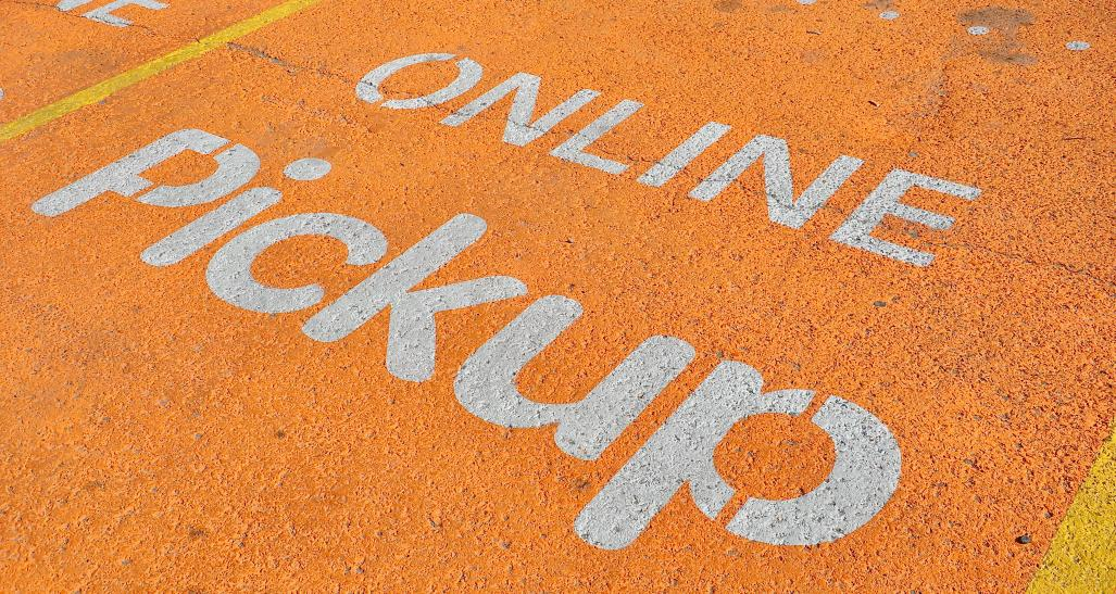 Designated parking for online pickup at store