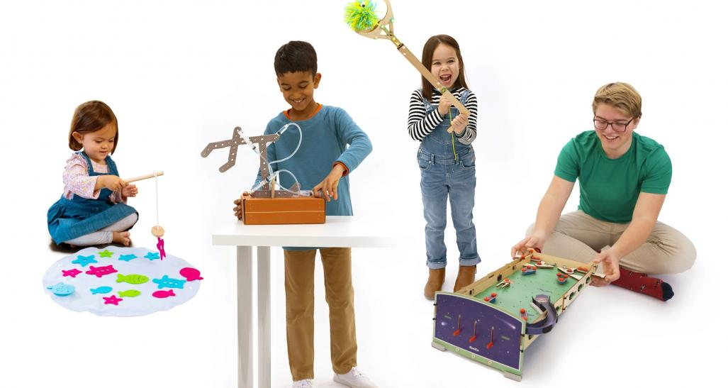 Kids play with KiwiCo products
