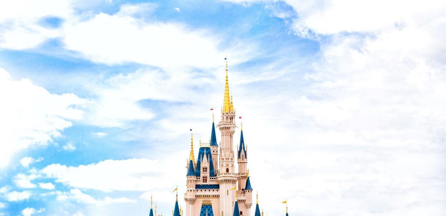 A castle in Disney World, Florida.