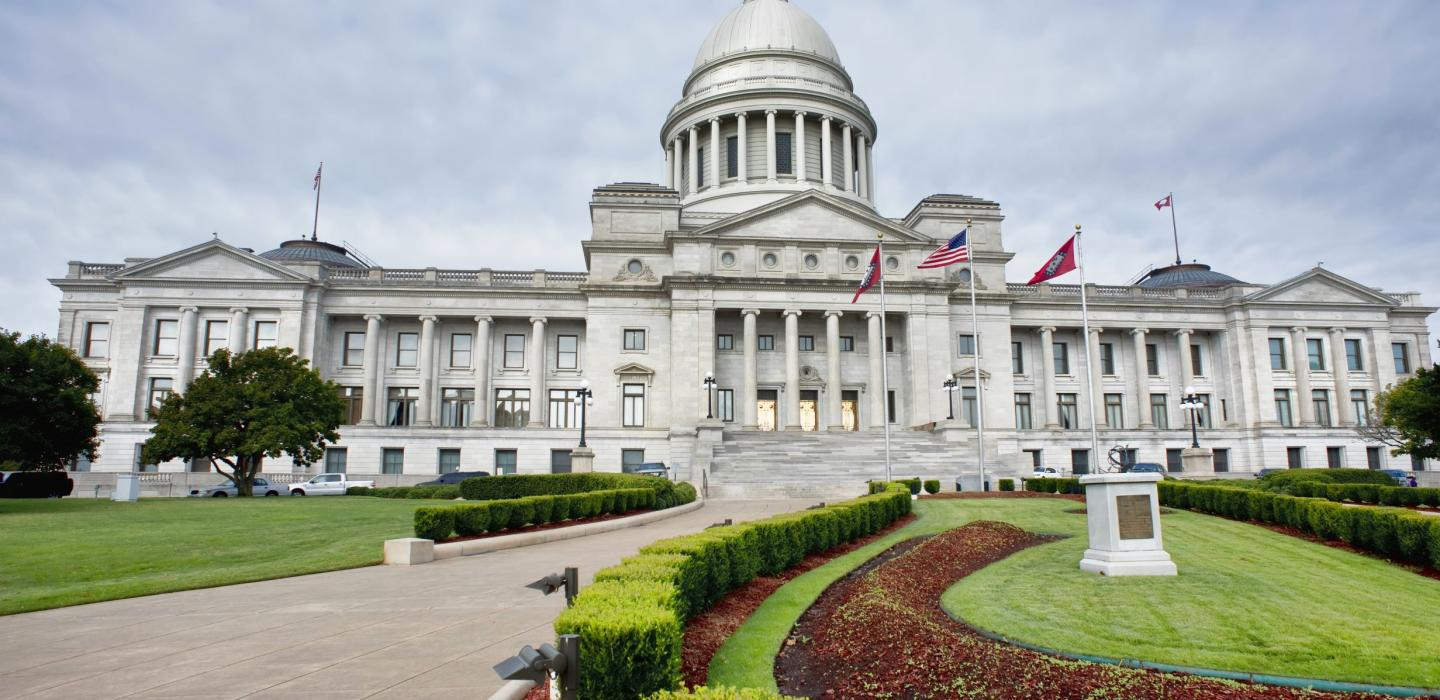 The Capitol building in Little Rock, Arkansas.