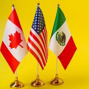 Canada, USA and Mexico flags
