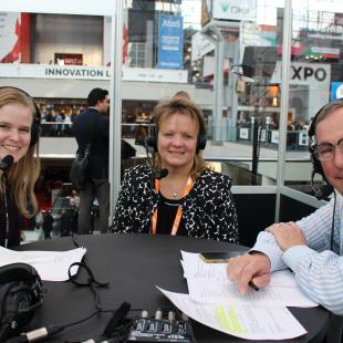 Sarah Rand and Bill Thorne from NRF interview Lori Flees of Walmart