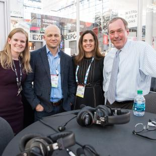 Salesforce Senior Vice President of Retail Industry Shelley Bransten (second right, above) and PwC Partner Ian Kahn (second left, above) joined Retail Gets Real from NRF 2018: Retail's Big Show
