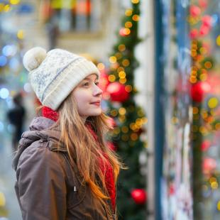 Girl at holiday market