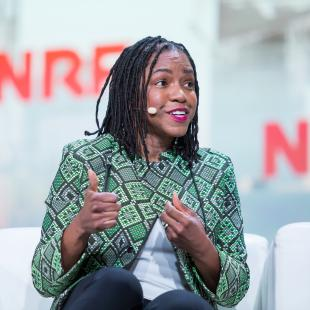 Stacy Brown-Philpot, CEO of TaskRabbit, on stage at NRF 2019