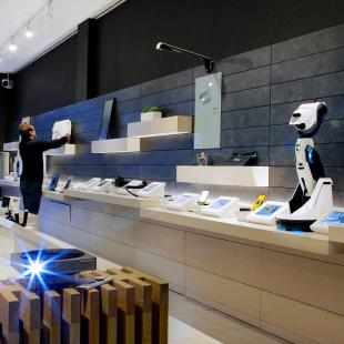 b8ta store interior in Santa Monica