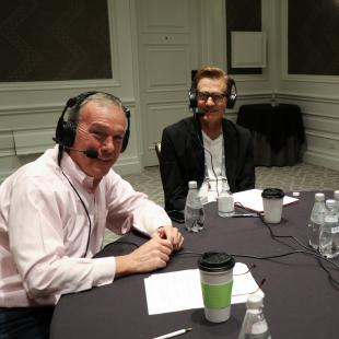 Lee Peterson of WD Partners recording NRF podcast