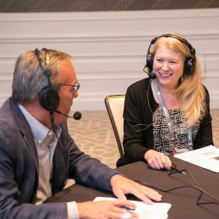 NRF podcast recording with Sue Smolenski of True Value Hardware