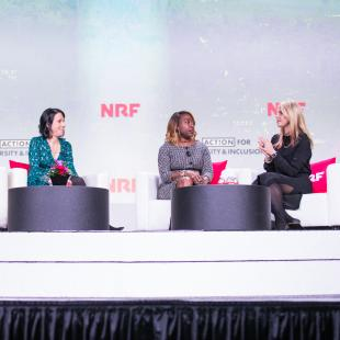 Mercedes Abramo, Cartier North America; Tammy Sheffer, Rent the Runway; Shawn Outler, Macy's Inc and Shannon Schuyler, PwC