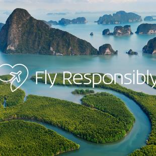 KLM-branded fly responsibly image