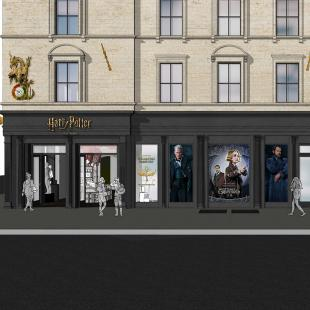 concept rendering of Harry Potter flagship store