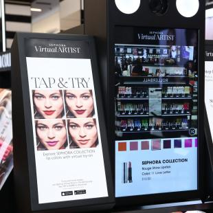 Photo of Sephora store interactive display