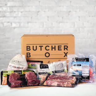 Assorted ButcherBox products