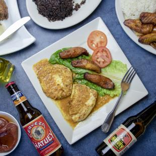 A selection of food and beverages from Bella Cuba