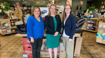 Rep. Kendra Horn and The Green Bambino staff