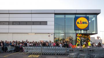 Lidl Supermarket opening day