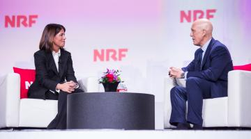 Helena Foulkes with Matt Shay at NRF 2020