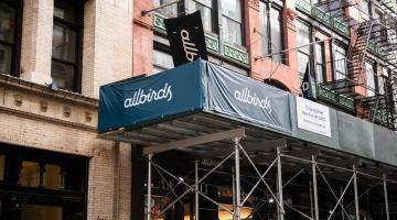 Allbirds storefront