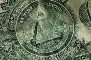 detail on a dollar bill