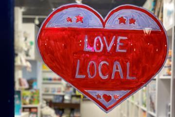 Love Local art on Amuse store