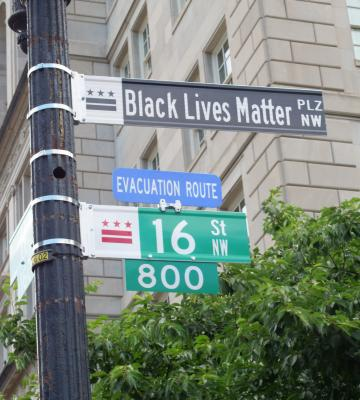 Black Lives Matter Plaza Sign