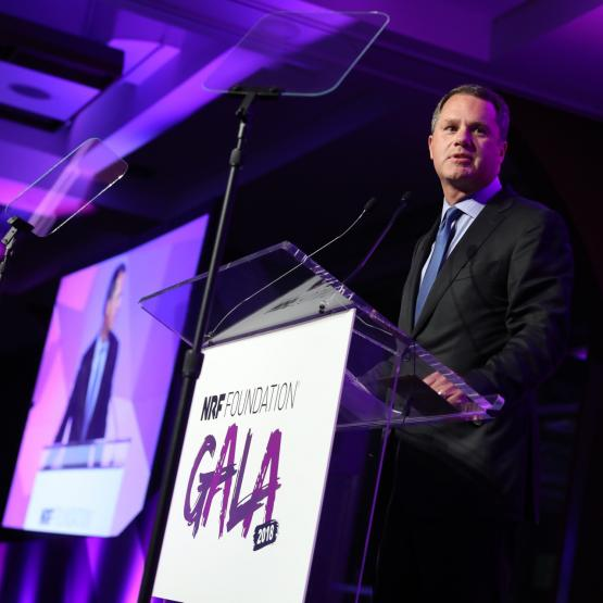 CEO of Walmart, Doug McMillon, speaking at NRF Foundation Gala 2018