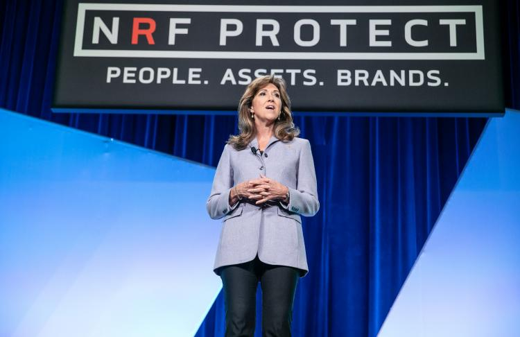 Cpt. Tammy Jo Shults speaking at NRF PROTECT 2018