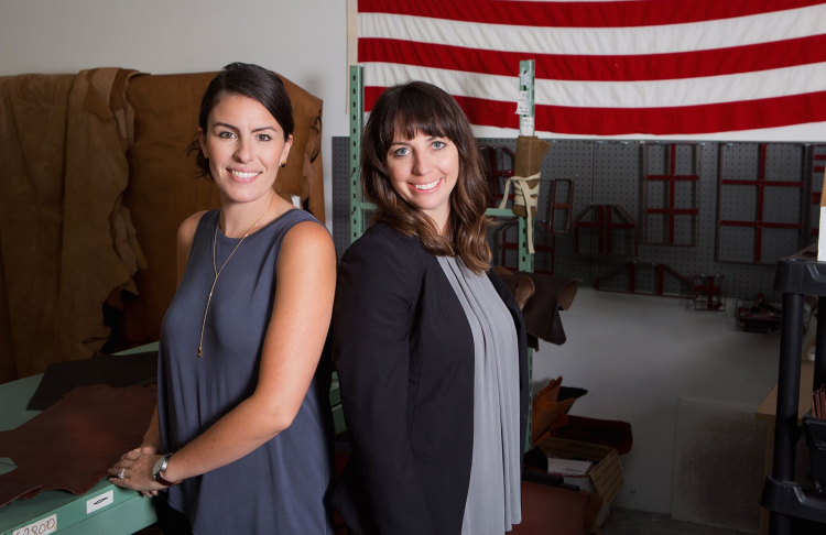 Co-founders Lisa Bradley and Cameron Cruse of R.Riveter