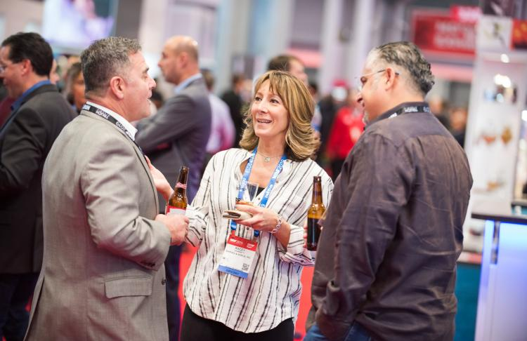 Attendees networking at NRF Big Show