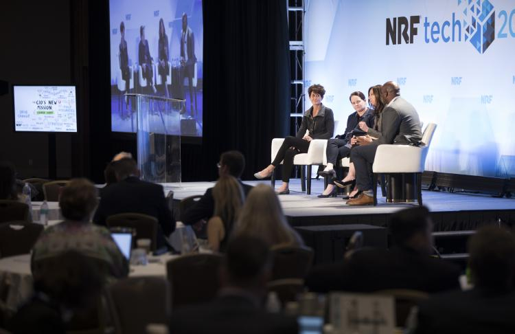 Experts on stage at NRFtech 2019