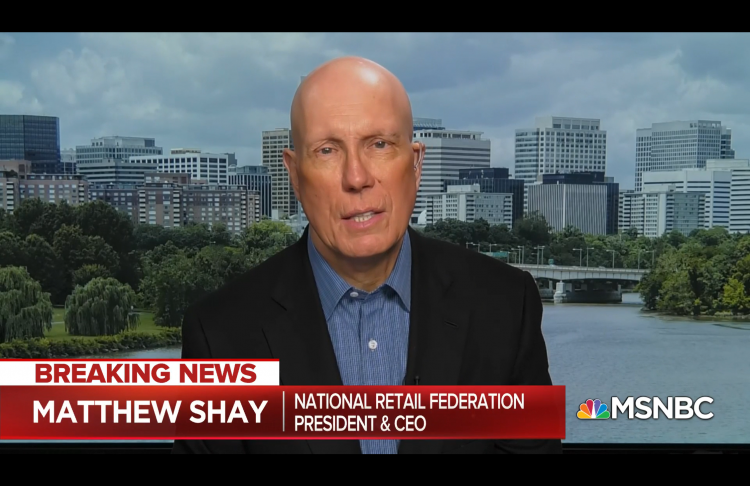 Matthew Shay appearing on MSNBC